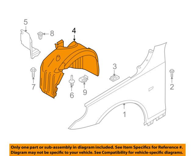 Fender Liner Compatible with 2004-2007 BMW 530i//525i Plastic Set of 2 Front Passenger and Driver Side