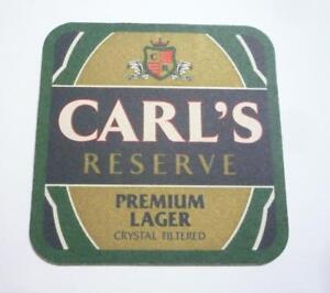 MALAYSIA Beer Mat Coaster CARL/'S RESERVE Premium Lager 1997 Carlsberg Asia