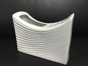Naaman-White-Artline-Ceramic-Flower-Vase-Pottery-Mid-Century-Israel-New