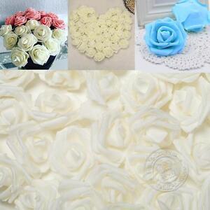 50-100PCS Mousse Faux Roses Fleur artificielle de mariage Bouquet Party