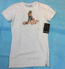 Women's T-Shirt Oakley Ladies White Psychedelic T-Shirt Size Small (E-3)