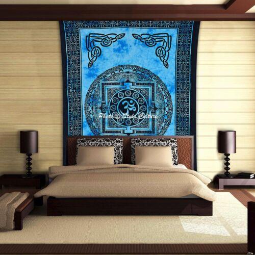 Bohemian Mandala Tapestry Ohm Twin Printed Meditation Psychedelic Wall Hanging