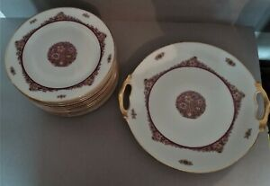 Service-Cake-Limoges-Porcelain-Jean-Boyer-Period-Art-Deco
