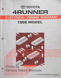 1998 Toyota 4Runner Electrical Wiring Diagrams Original Factory Manual |  eBayeBay