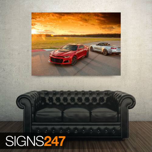 9027 Poster Print Art A0 A1 A2 A3 A4 2017 CHEVROLET CAMARO ZL1 Car Poster