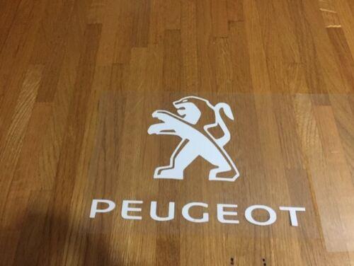 PEUGEOT LION LOGO PATCH FLOCAGE 18 CM PAR 13 CM