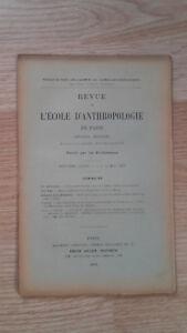 Recueil Mensual - Revista ESCUELA Antropología De París - 1899 - N º 5