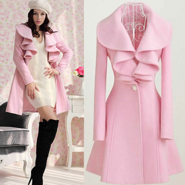Fashion Slim Women's Warm Long Coat Jacket Trench Windbreaker Parka Outwear