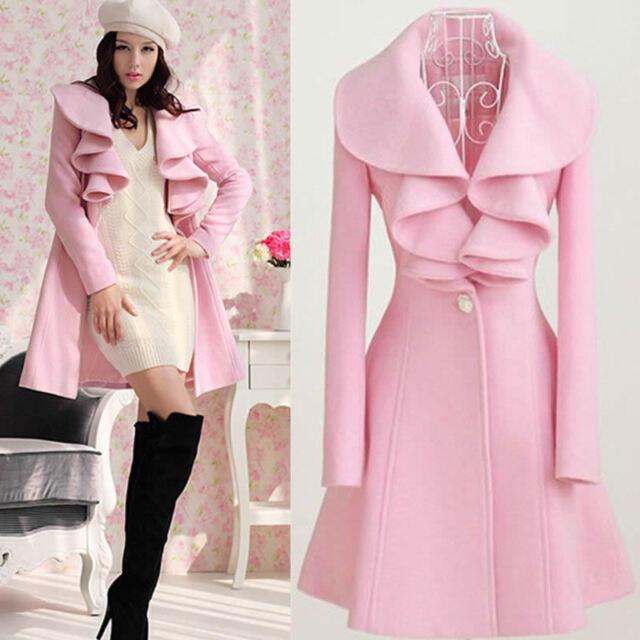 Fashion Slim Womens Warm Long Coat Jacket Trench Windbreaker Parka Outwear