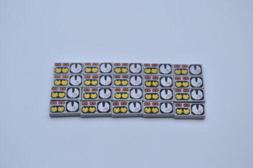 LEGO 20 x Kachel Fliese 1x2 bedruckt neuhell grau newlight grey tile 3069bpx19