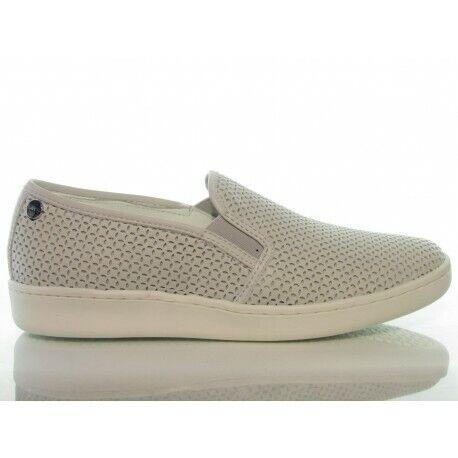 Keys 5054 scarpe donna slip-on mocassini pelle bianco