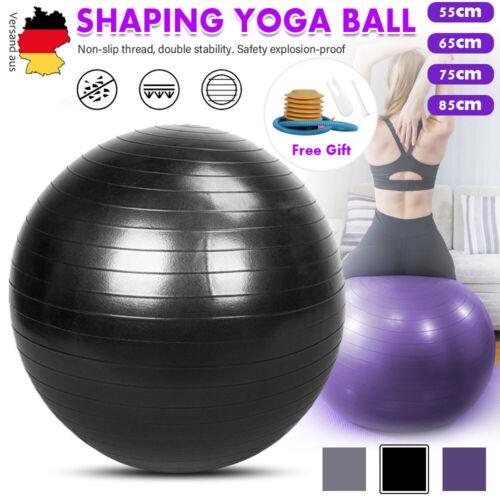 85cm Übung PVC Yoga Swiss Fitness Schwangerschaft Geburtsball /& Pumpe 55cm