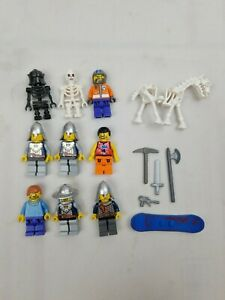 LEGO BLACK SKELETON CASTLE KNIGHT MINIFIG LOT figure king men minifigure