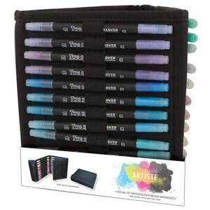 Dual-Tip-watercolour-brush-pens-36St-Aquarell-Pinsel-Stifte-DoCrafts-DOA-851310