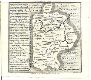 Antique-map-Bedfordshire