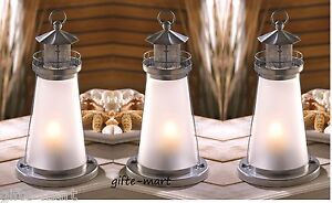 5 Silver White 10 Tall Candle Holder Lighthouse Light Wedding Table Centerpiece Ebay