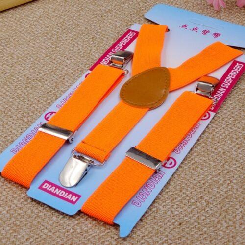Kids Elastic Suspenders Strap Braces Belt 3 Clips for Jeans Pants Trousers