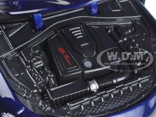 2016 ALFA ROMEO GIULIA DARK BLUE METALLIC 1//24 DIECAST MODEL CAR BBURAGO 21080