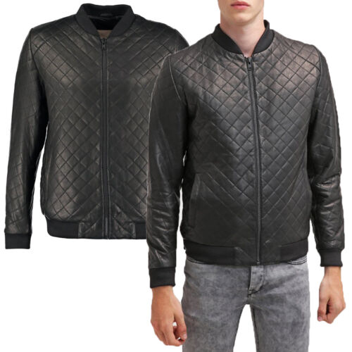 Blouson Cuir Veste Giacca Homme Men Jacket Uomo Leather Giubbotto R61a In Pelle Rxwvq8FR