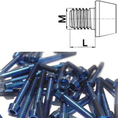 Titan vis m5 x 8-45 mm Conique DIN 912 grade 5 Bleu