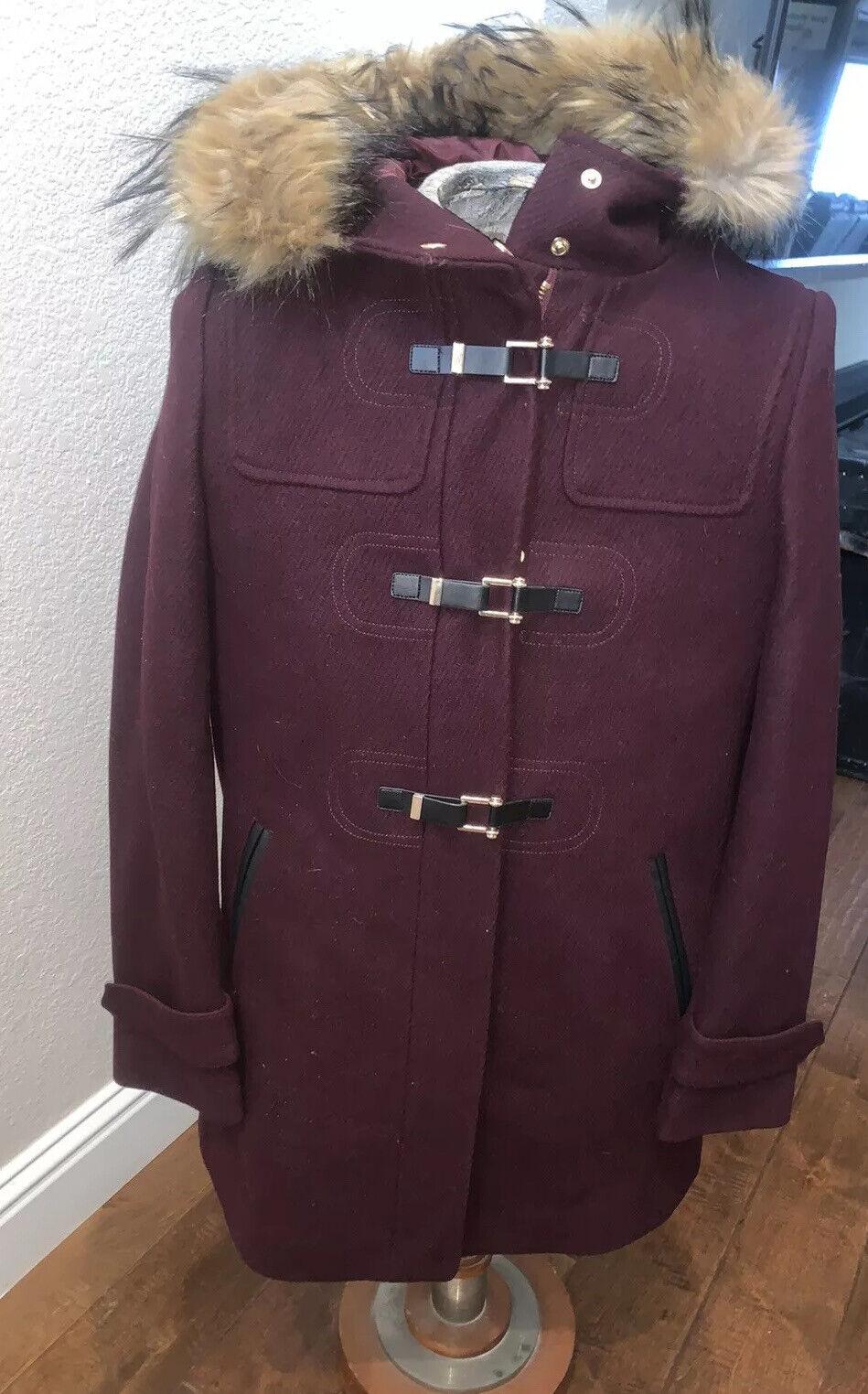 Cole Haan Women's Wool Twill Short Duffel Coat Bo… - image 3