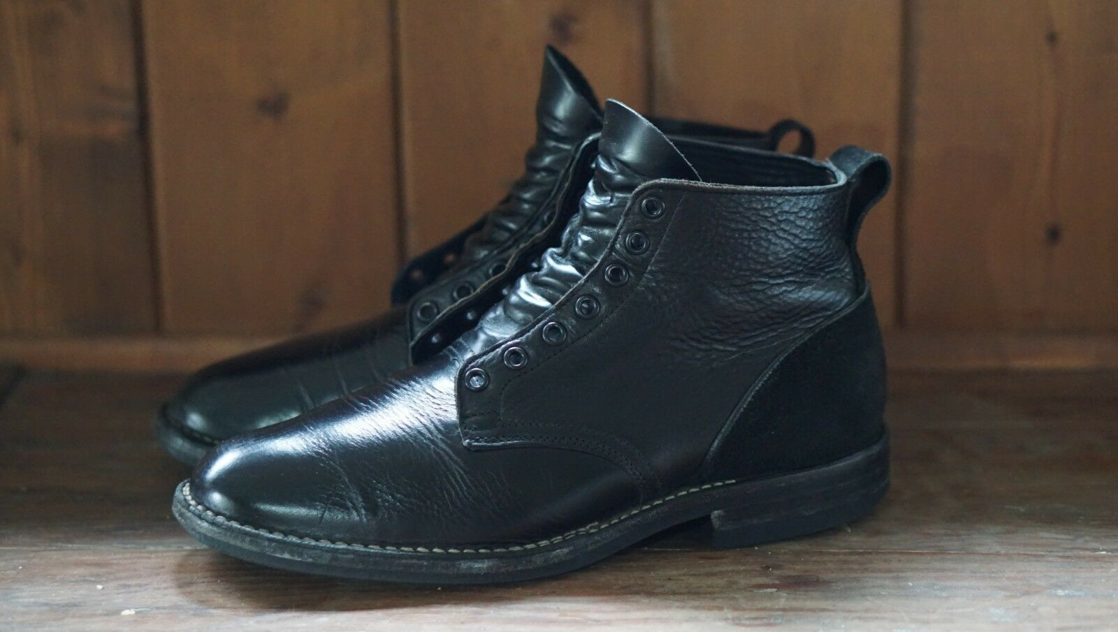 750 VIBERG x WINGS+HORNS One of a kind Service avvio Leather CXL nero Dimensione 8.5