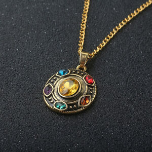 1x-Cool-Pendant-Chain-Cosplay-Gift-Avengers-Thanos-Infinity-stones-Necklace