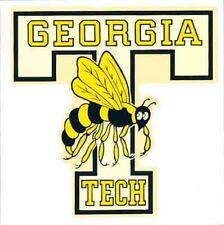 """Georgia Tech Yellow Jackets 5/""""x6/"""" Decal  IN STOCK!!"""