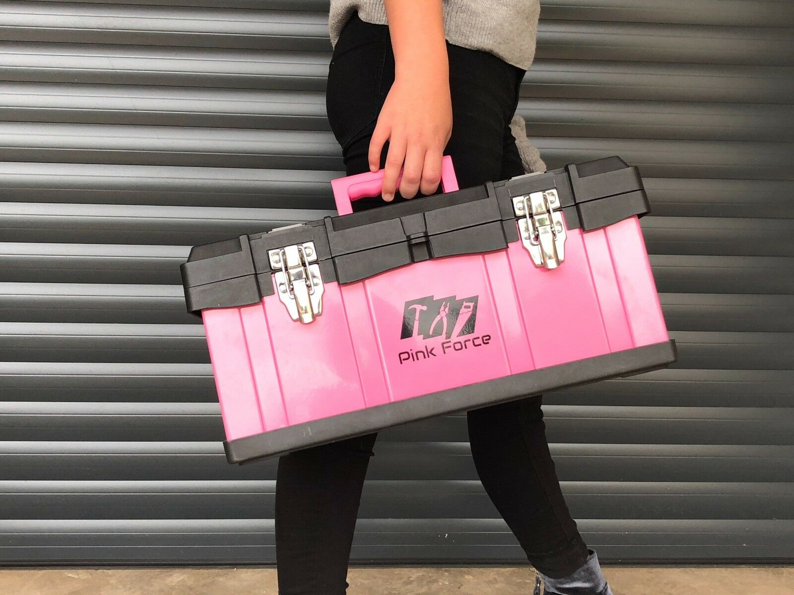 Pink Storage Box, Metal Heavy Duty, Brand New, Sale With Free Delivery