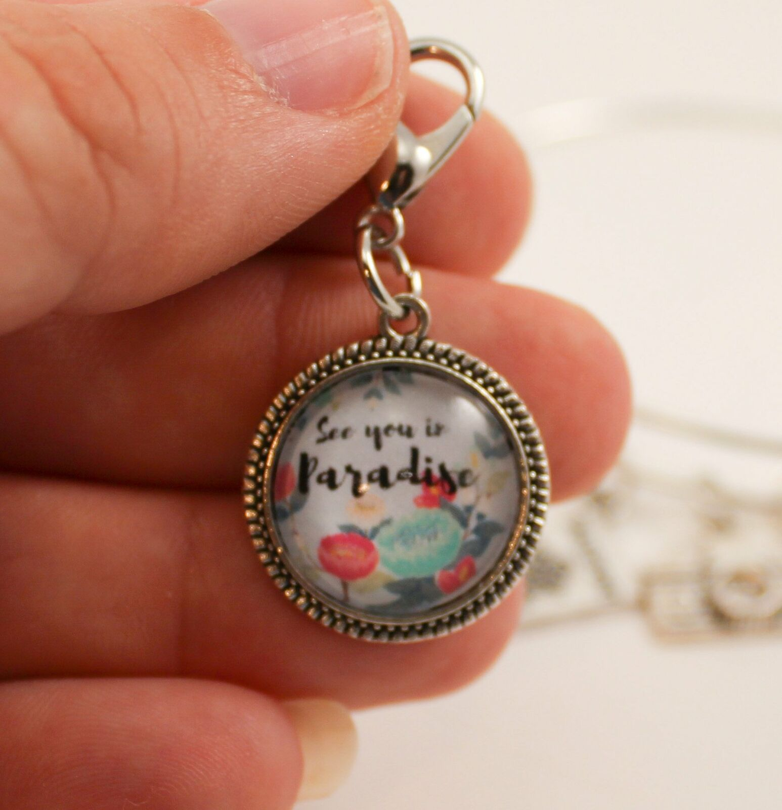 See You In Paradise  Clip-On Charms-JW Perfect International Convention Gifts