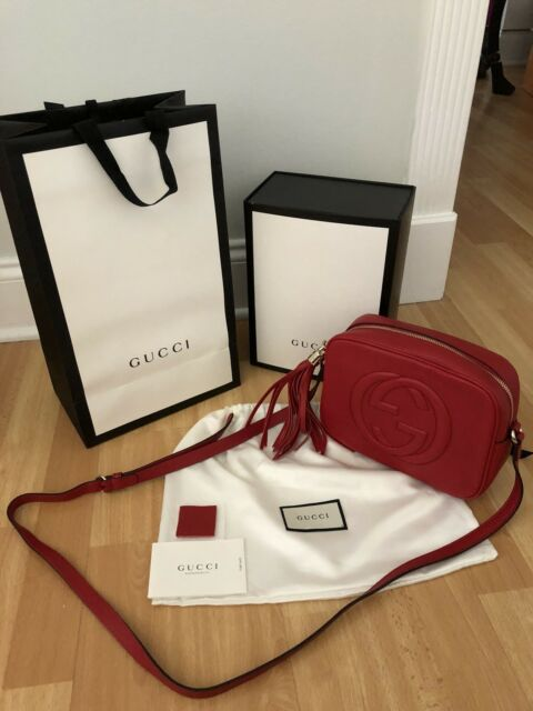 Gucci Soho Leather Red Disco Bag