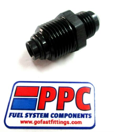 06 an Male Flare to M 18mm x1.5  seals on o-ring Black Power Steering injector