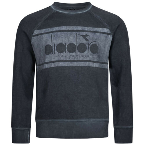 Diadora Messieurs Crew Sweatshirt Pull Hommes Sport Loisirs Haut Neuf