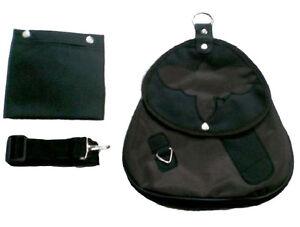 Falconry-Cordura-Bag-Hunting-Bag-Strap-amp-Meat-Pocket-Dark-Brown-Bird-Design