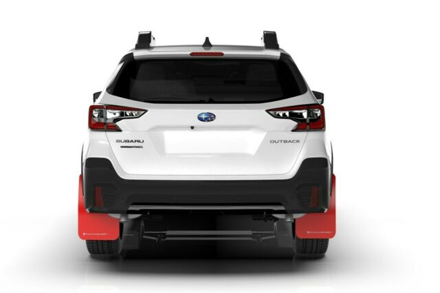 Rally Armor Mud Flaps For Subaru 2020-2021 Outback Red w ...