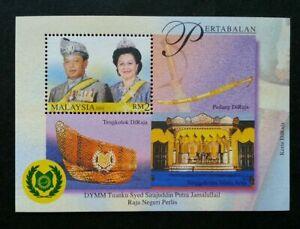 SJ-Malaysia-Golden-Jublee-Of-The-Raja-Of-Perlis-2001-Royal-ms-MNH
