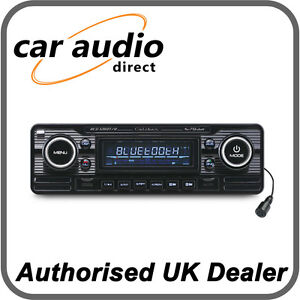 Details about Caliber RCD120BT/B Retro Style Classic Bluetooth Car Stereo  Radio CD MP3 SD USB