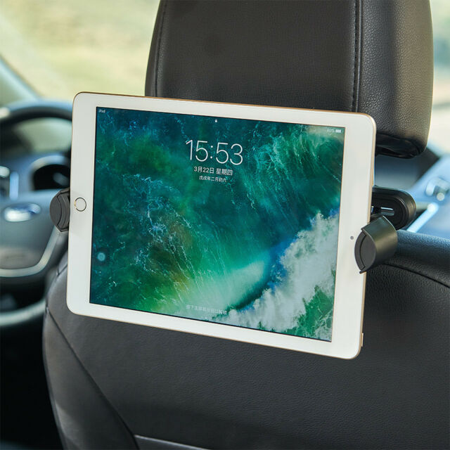 iPad 2 3 4 Mini Air & Tablet In Car Back Seat Headrest Holder Stand Mount Black