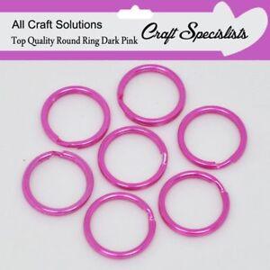 15mm SILVER TOP QUALITY ROUND SPLIT KEY RING DOUBLE LOOP CRAFT FINDINGS KEYRINGS