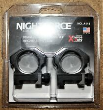 "Nightforce Scope Ultralite Rings 30mm 6 Screw .885/"" Low A264"