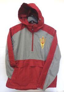Arizona-State-Sun-Devils-Mens-G-III-Leadoff-Hooded-Half-Zip-Pullover-Jacket-318