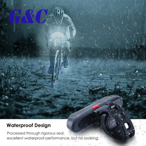 USB Rechargeable Bike Bicycle LED Tail Lamp Safety Cycling Warning Rear Lamp