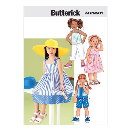 Butterick 3477 muy fácil patrón de costura para hacer Vestido Top Shorts Pantalones /& Cultivo