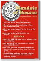 Chinese Mandate Of Heaven (6th Century B.c. - 1912 Ad) History China - Poster