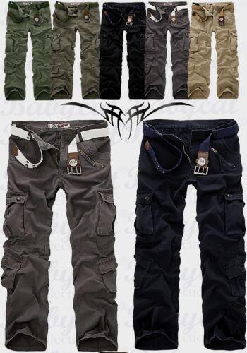 Herren Militär lässig Cargo Hose pants//Trousers Freizeithose Kampfhose NEU H16