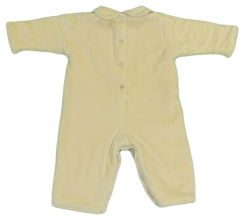 JACADI Girl/'s Aterien Sand Long Sleeve Flower Jumpsuit Size 12 Months NWT $66