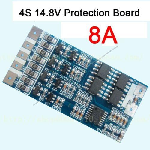 4S 14.8V 8A w//Balance Li-ion Lithium 18650 Battery BMS PCB Protection Board