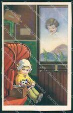 Castelli Children Train CORNER CREASE Degami serie 2210 postcard QT6651