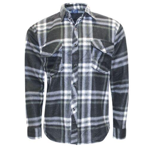 New Mens Casual Lumberjack Brushed Fleece Check Winter Shirt Button Top M-Xxxl