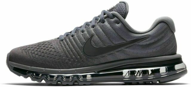 6e94e34a7432 Nike Air Max 2017 Men s Running Shoes Cool Grey Anthracite Size 8 849559-008